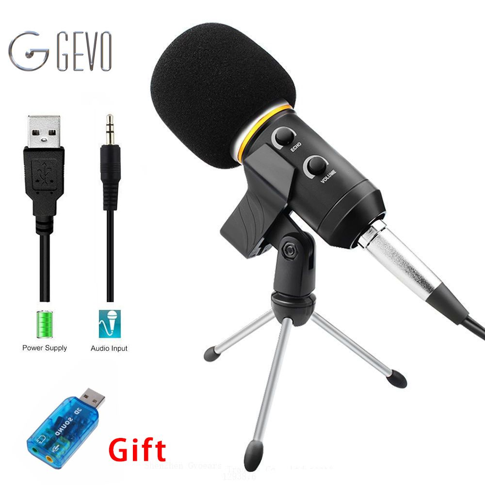 MK-F200FL Professional Microphone Wired Recording USB Condenser Microphones With Tripod For Computer Karaoke Mikrofon Microfone