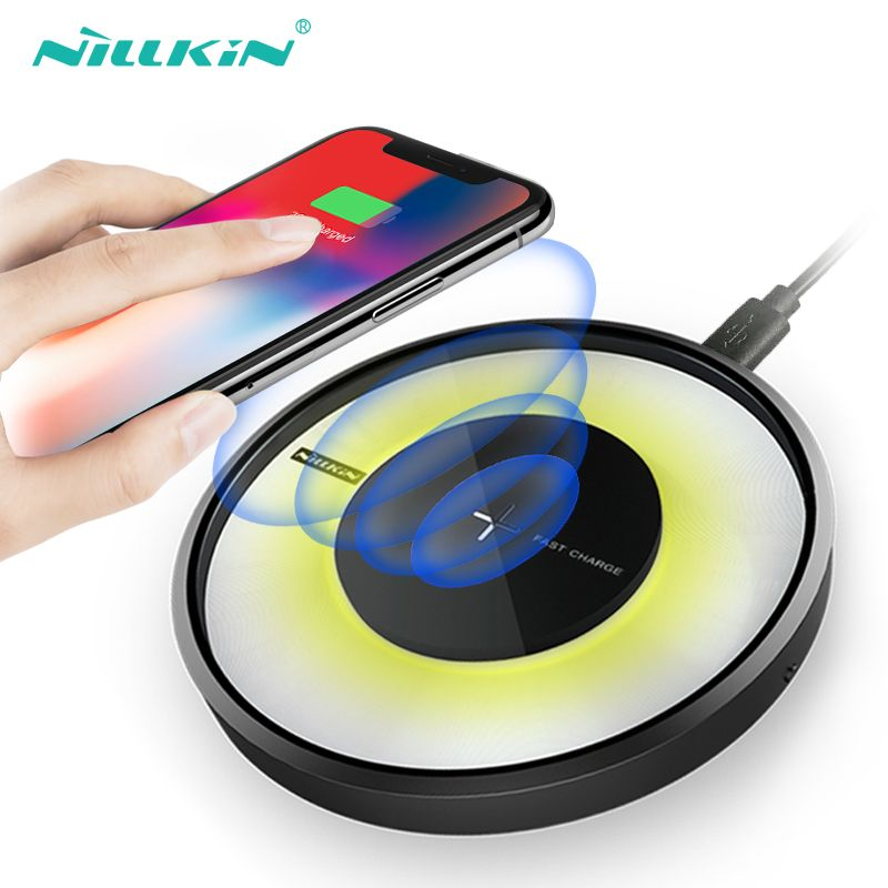 Nillkin Fast Wireless Charger Qi Charging pad For Samsung Galaxy S9/ S9+/S8 /S7 Edge S6,Qi Wireless Charger for iPhone 8/8plus/x
