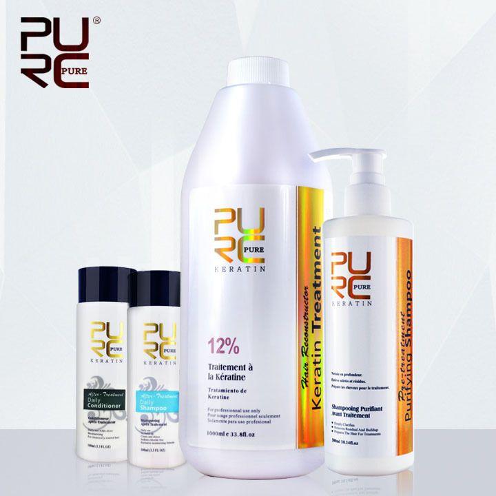 Hair care set hot sale Shampoo for hair 300ml and brazilian keratin hair straightening christmas gift free shipping