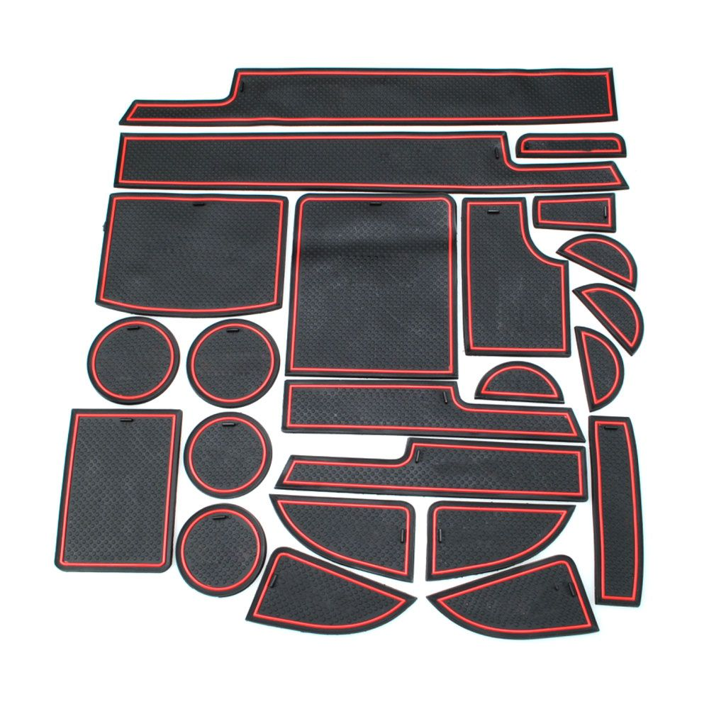23pcs Rubber Non-slip Car Door Container mats Pads Gate Slot Cushion For Dodge Journey 2013 2014 Auto Parts Accessories
