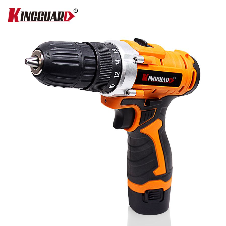 KINGGUARD 12V Cordless Drill Electric Screwdriver Double Speed Mini Drill Electric Drill Multi-function Power Tools