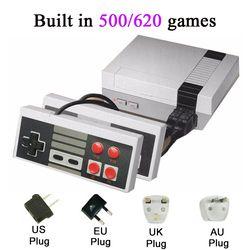Mini TV portátil recreación familiar consola Puerto AV retro incorporado 500/620 juegos clásicos GamePad dual jugador del juego