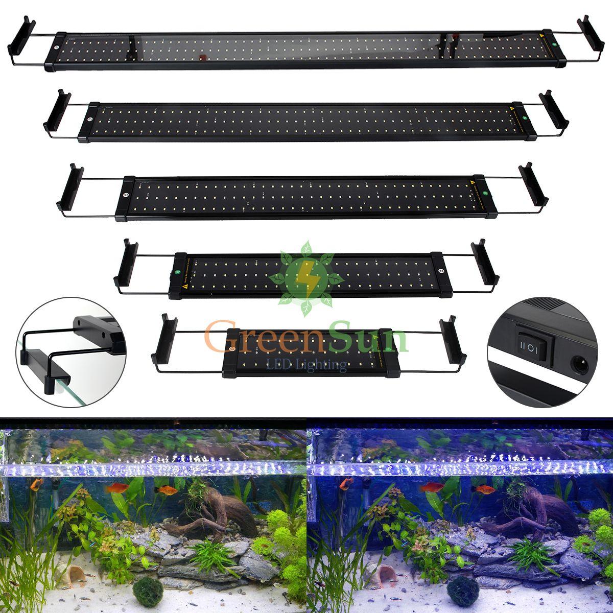 UE Plug Luz LLEVÓ la luz Del Tanque de Pescados Del Acuario Tanque de Peces de Acuario Decoración Clip de La Lámpara 6 W 11 W