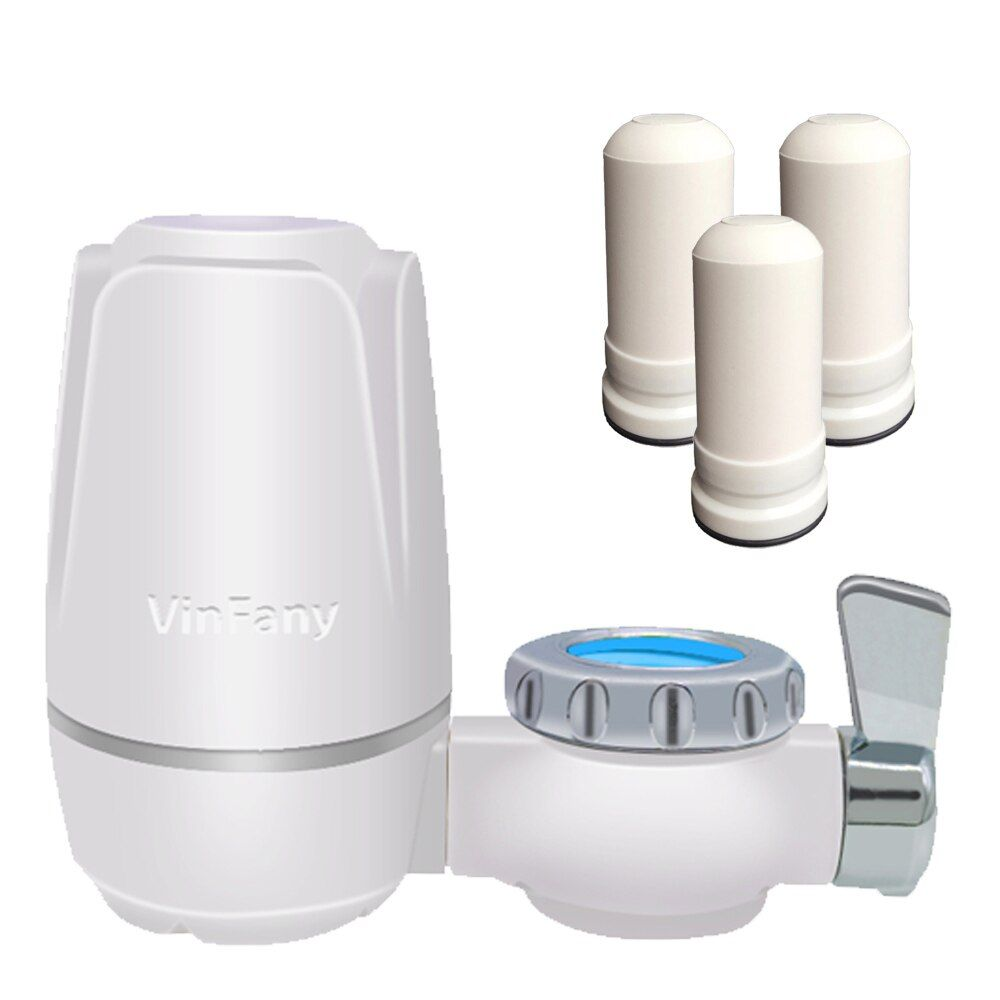 Freeshipping 8 layers purification Ceramic filter for water filter purifier kitchen faucet Attach extra 3 Filter cartridges