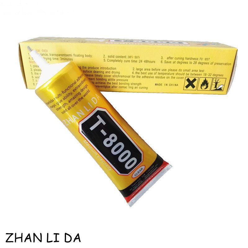 Nueva 110 ml T-8000 Resina Epoxi T8000 Teléfono Multiusos LED pantalla de Reparación Shell Pegamento Líquido Herramientas de BRICOLAJE Mejor Que B-7000 pegajosa