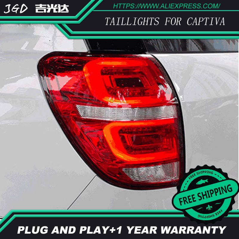 Car Styling tail lights for Chevrolet Captiva 2009-2016 taillights LED Tail Lamp rear trunk lamp cover drl+signal+brake+reverse