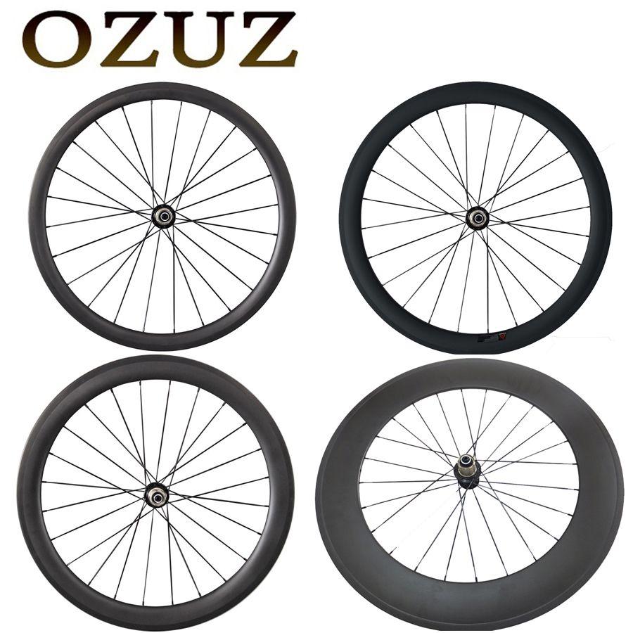 OZUZ 23mm Breite Klammer Tubular Powerway R13 Naben Nur Hinten Carbon Räder 38mm 50mm 88mm 3K 700c Fahrrad Rad Glänzend Matt