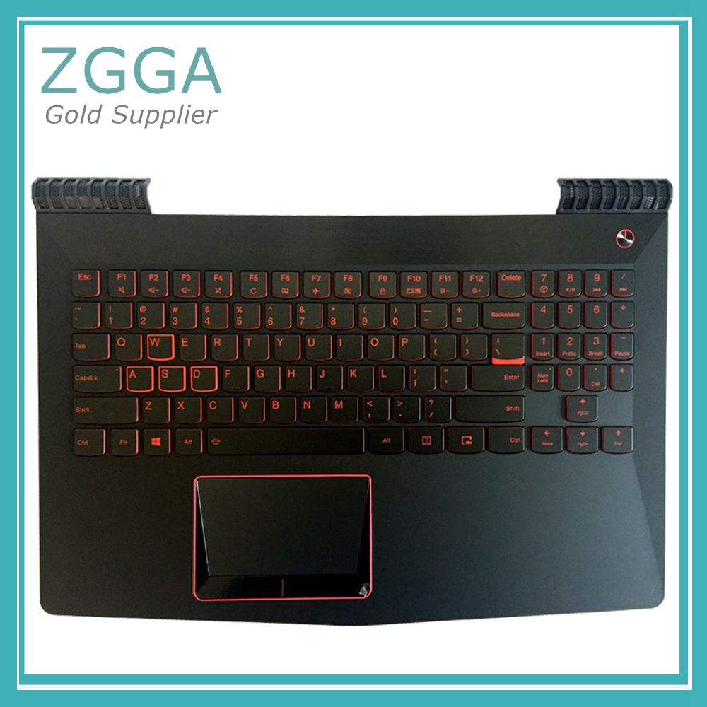 Laptop Top Cover For Lenovo Y520 R720 R720-15 R720-15IKB Palmrest W/US English Layout Backlit Keyboard Touchpad AP13B000300 UK