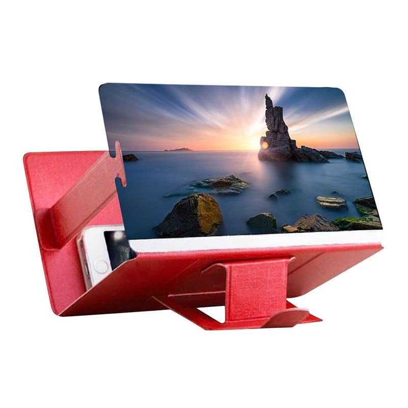 Universal Mobile Phone 3D Screen HD Video Amplifier Magnifying Glass Stand Bracket Holder Drop shipping