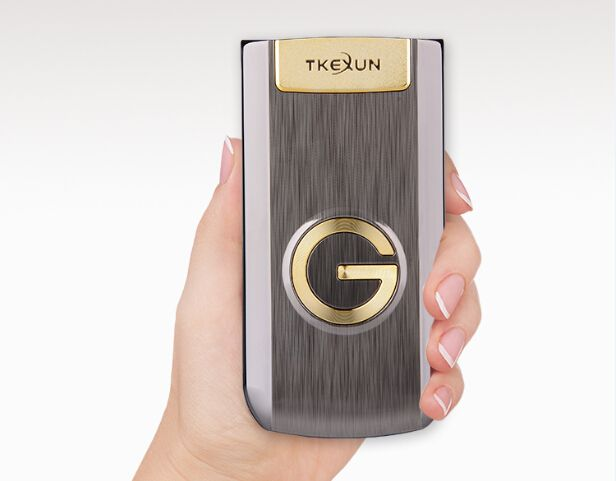 Luxury Flip Metal Senior Phone TKEXUN G3 Big Keyboard/ Sound Old People/ Man Cell Phone Parents Gift Russian French Language