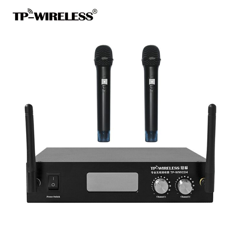 TP-WIRELESS 2.4GHz 2Channels Handheld Digital Wireless Two Channels Microphone Mic System