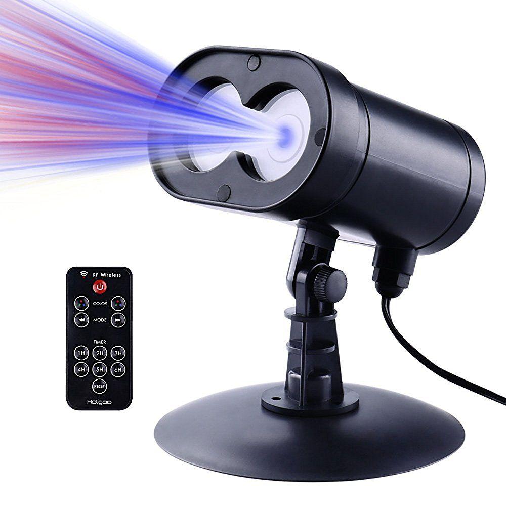 Nueva ledertek Rojo Y Azul Luces Al Aire Libre Del Proyector de Estrellas Láser de Control Inalámbrico de alta calidad Proyector Laser de la Navidad