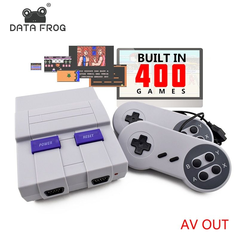 Data Frog Retro Mini Family TV Video Game <font><b>Console</b></font> 8 Bit TV Game <font><b>Consoles</b></font> Built In 400 Classic Games Support PAL & NTSC