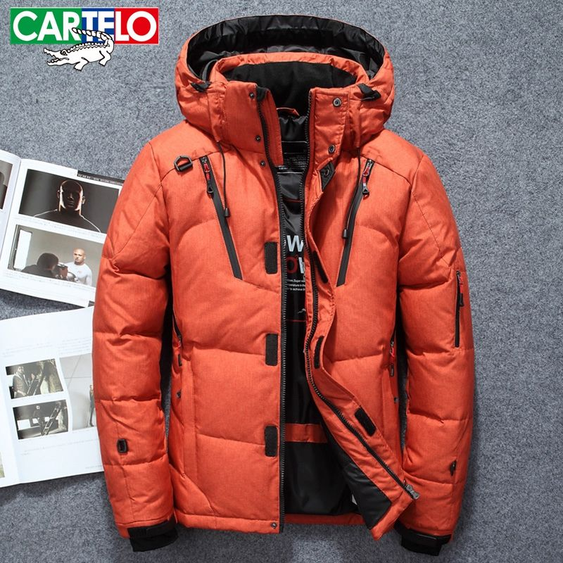 CARTELO 2017 winter brand down jacket Men Multiple pockets thicken 90% White Duck Down Jackets Down Parkas male coats clothing