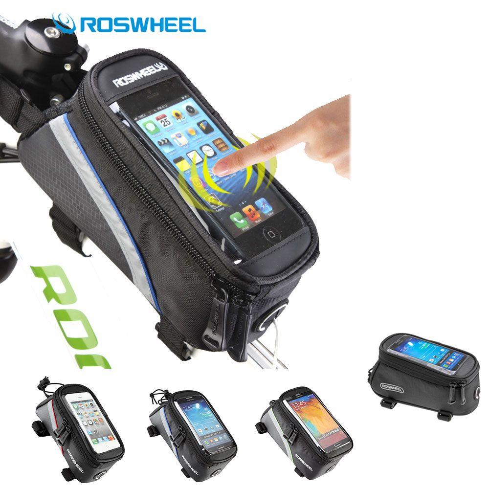 Roswheel MTB Fahrrad Tasche 4,8 ''und 5,5'' Handy Wasserdichte Touchscreen Rennrad Tasche Bicicle Tasche Telefon Fall Fahrrad zubehör