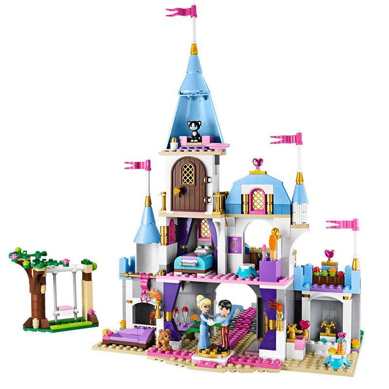 LOZ 697pcs+ Cinderella Romantic Castle Princess Friend Building Blocks For Girl Sets Toy Compatible Legoingly Friends Bricks