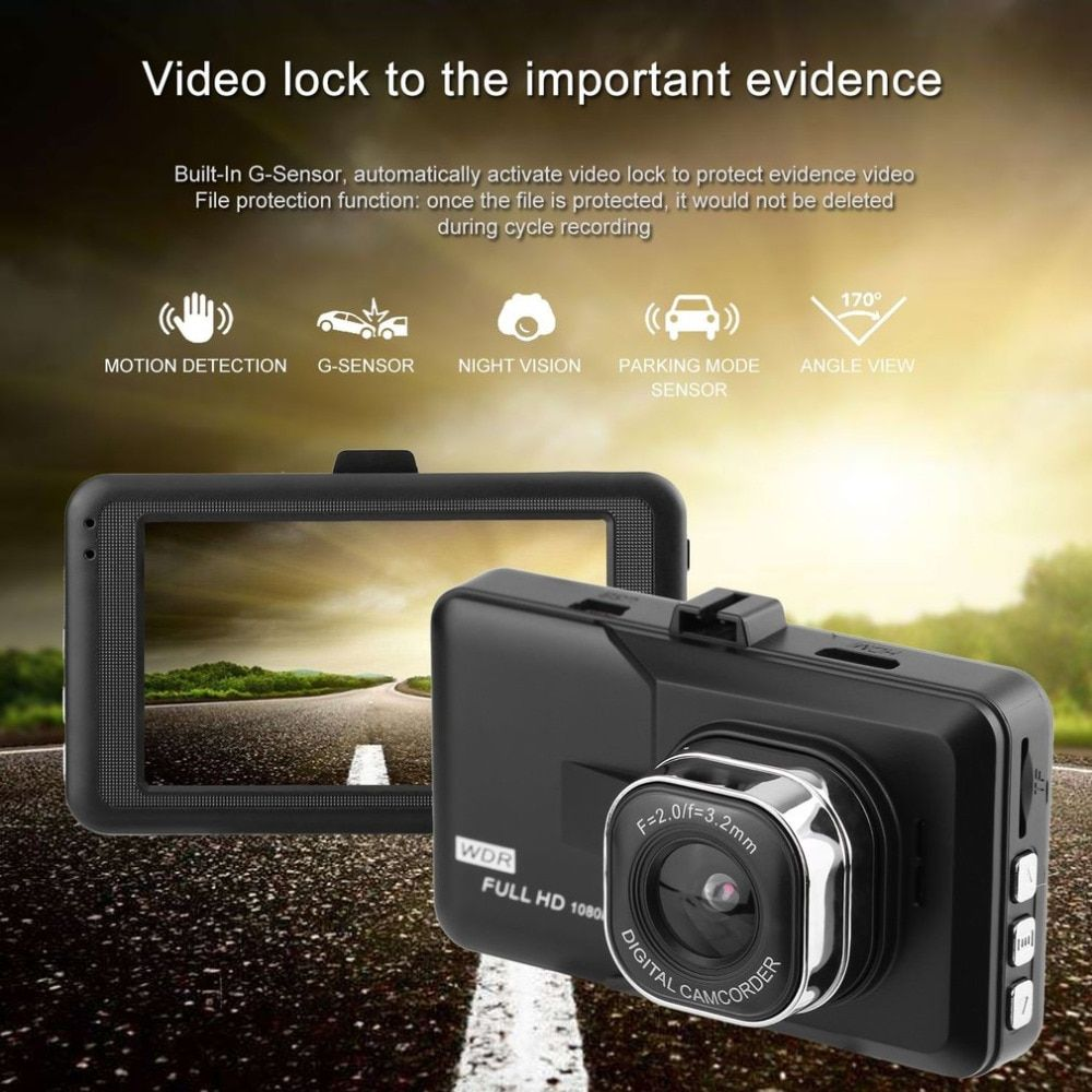 Auto New Styling 3.0 inch LCD Dash Car Video Camera Full Dvr 1080P HD G-sensor 32GB Motion Detector Cycle Recording Hot Selling