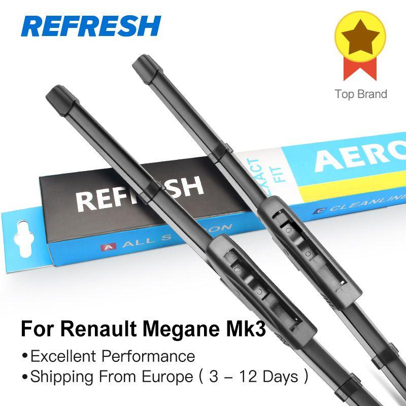 REFRESH Wiper Blades for <font><b>Renault</b></font> Megane Mk3 24&16 Fit Bayonet Arms 2008 2009 2010 2011 2012 2013 2014 2015 2016