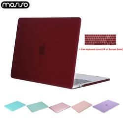 MOSISO Clear Laptop Hard Shell Case for Macbook Air Pro 13 inch touch bar 13 15 A1706 A1989 A2159 New Air13 A1932+Keyboard Cover