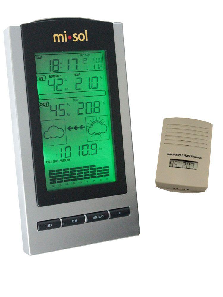 Sans fil Station Météo thermomètre sans fil avec Extérieur capteur De Température et d'humidité d'affichage À CRISTAUX LIQUIDES, Baromètre