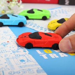 1 unids/lote enviar al azar niños escuela lindo coche desmontable borradores conjunto Borrador de goma mejor regalo para los niños 0711