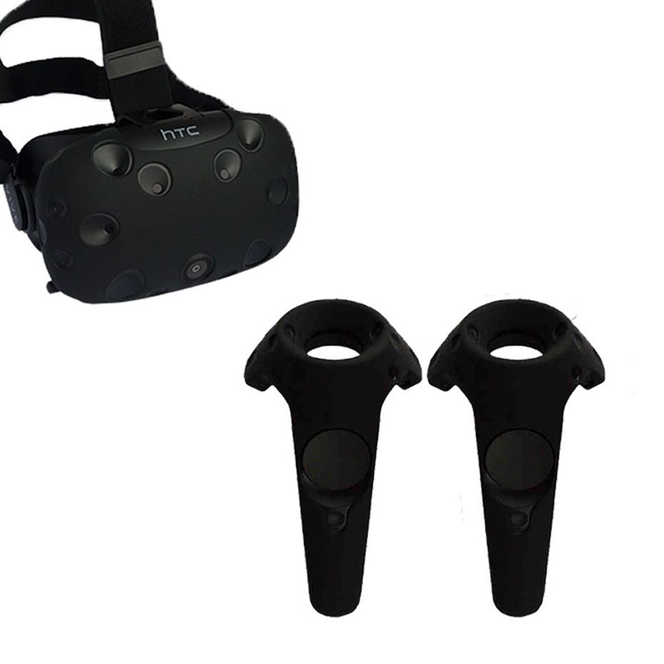 For HTC VIVE VR Virtual Reality Headset Anti-slip Wireless Control Gamepad Shell Silicone Case Cover
