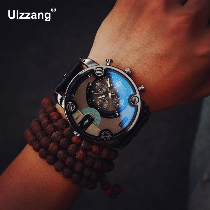 Fashion JIS High Quality Blue Ray Black Brown Leather <font><b>Band</b></font> Steel Shell Men Male Quartz Watch Wristwatches Clock