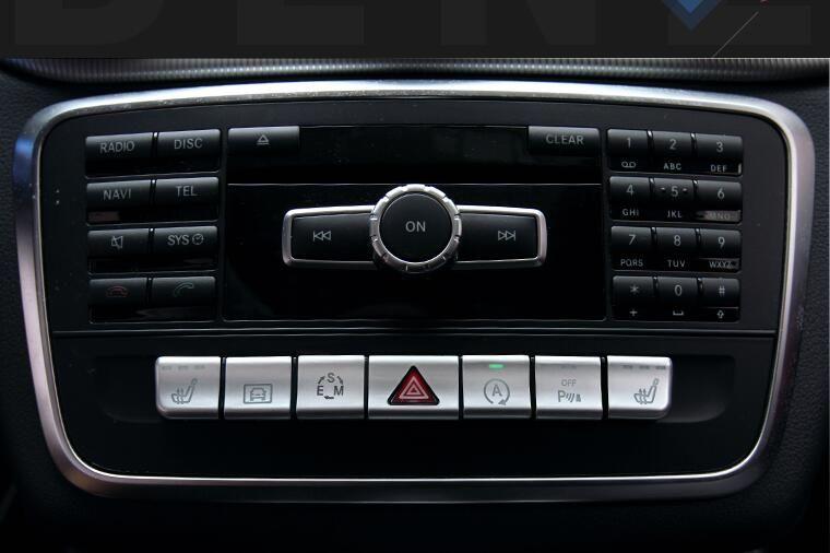 Autocollants de couverture de panneau de bouton de CD de voiture pour les accessoires de mercedes-benz CLA/GLA/classe A/classe B