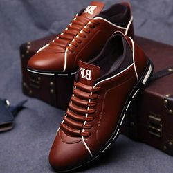 leather shoes men massage 2018 spring/summer man's derby shoes fashion lace-up solid wedges black dress shoes leather 39-48