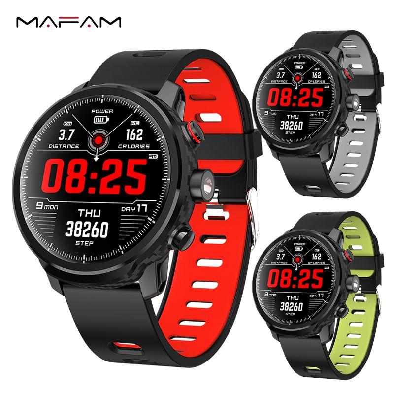 MAFAM L5 Smart Uhr Männer Wasserdichte Bluetooth Herzfrequenz Sport Schrittzähler Schwimmen IP68 Smartwatch Anruf Erinnerung Für IOS Android