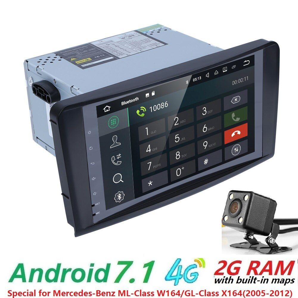 Wholesales! 2Din 9Inch Android7.1 Car NO-DVD Player For Mercedes/Benz/ML/GL CLASS W164 ML350 ML500 GL320 Canbus 4GWifi GPS Radio