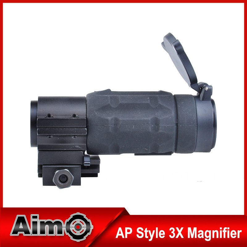 AIM O AP Style 3X Magnifier with QD Twist Mount Tactical Weapon Mount For Rifle AO5339