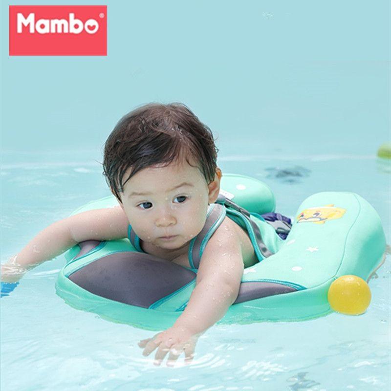 Anneau gonflable gratuit de natation de bébé flottant la taille d'enfants aucun gonflage flotte le jouet de piscine pour la baignoire et l'entraîneur de natation