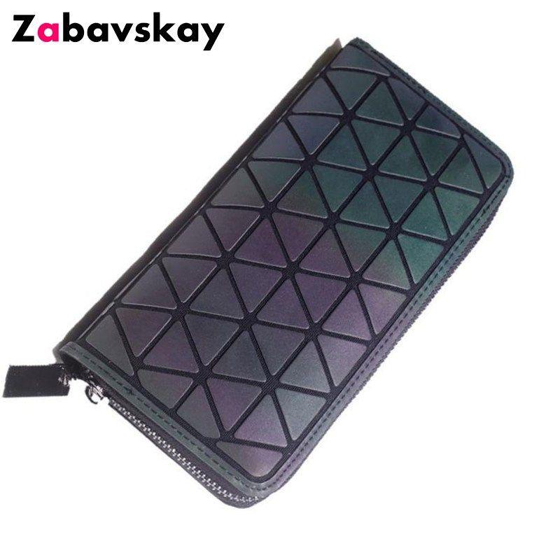 women fashion clutch wallet, Diamond Geometry lattice standard long purse baobao wallets ,Luminous PVC Wallet for Women DJZ257