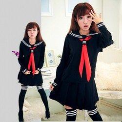 JK японская школьная униформа моряка модная школьная класса матрос школьная форма для Косплэй костюм для девочек 3 шт./компл.