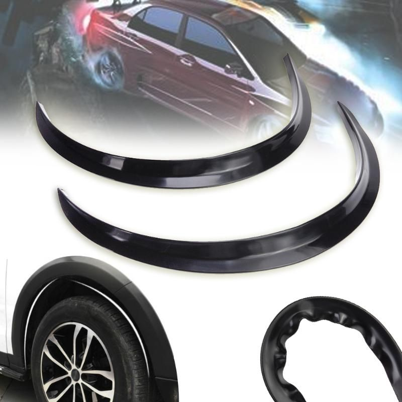 2Pcs Universal Car Wheel Fender Flare Extension Wide Arch Protector Stripe Lip Body Kit For Car Truck Car Mudguard Mud Guard