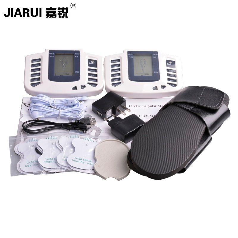 JR309 Stimulateur Musculaire Électrique Relaxer le Muscle Massage Pantoufles Electrico Corps Massage Dizaines Électrodes 8 pads