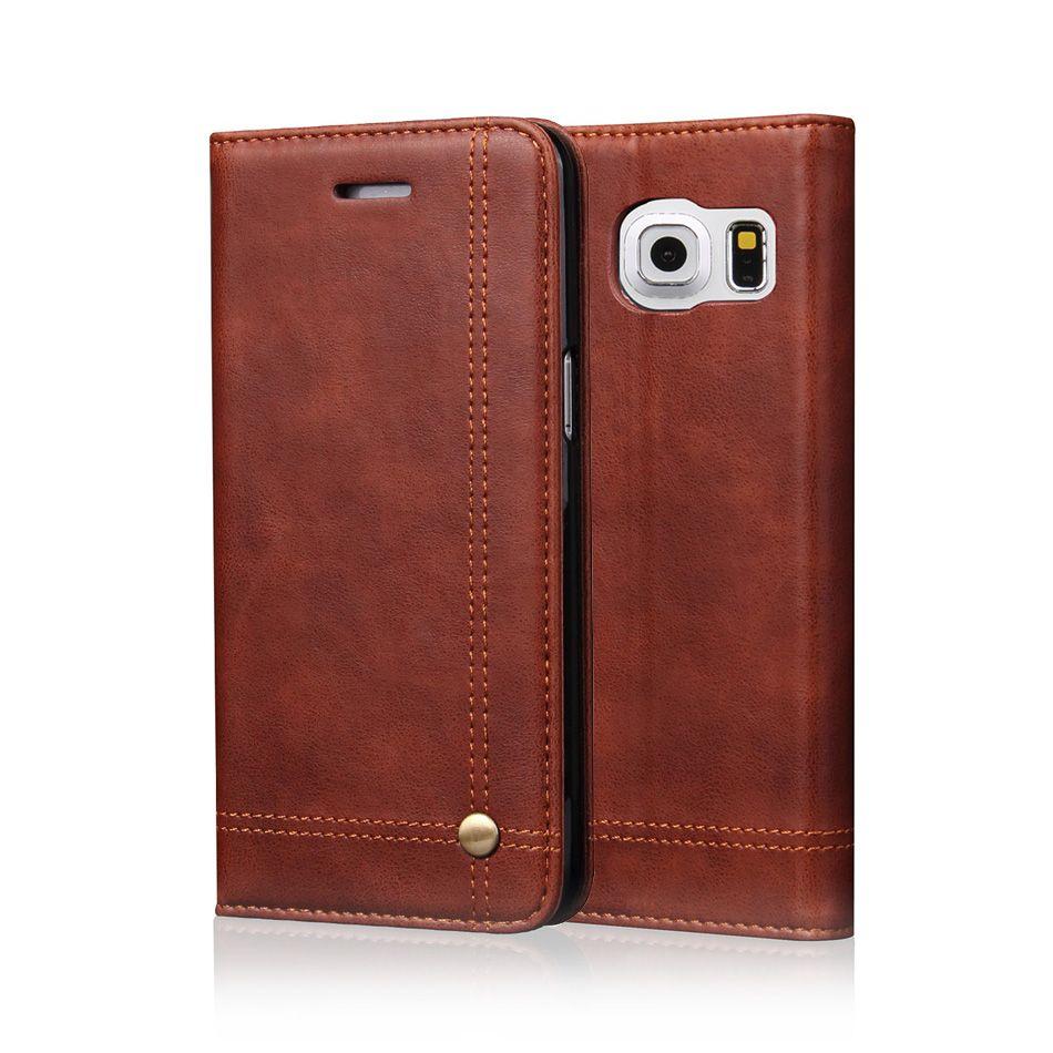 Étui En Cuir Téléphone étuis pour samsung Galaxy S7 S8 S9 Plus Étui Portefeuille Pochette Style Carte Fente Support Housse Pour Galaxy S9 S8 S7 Bord
