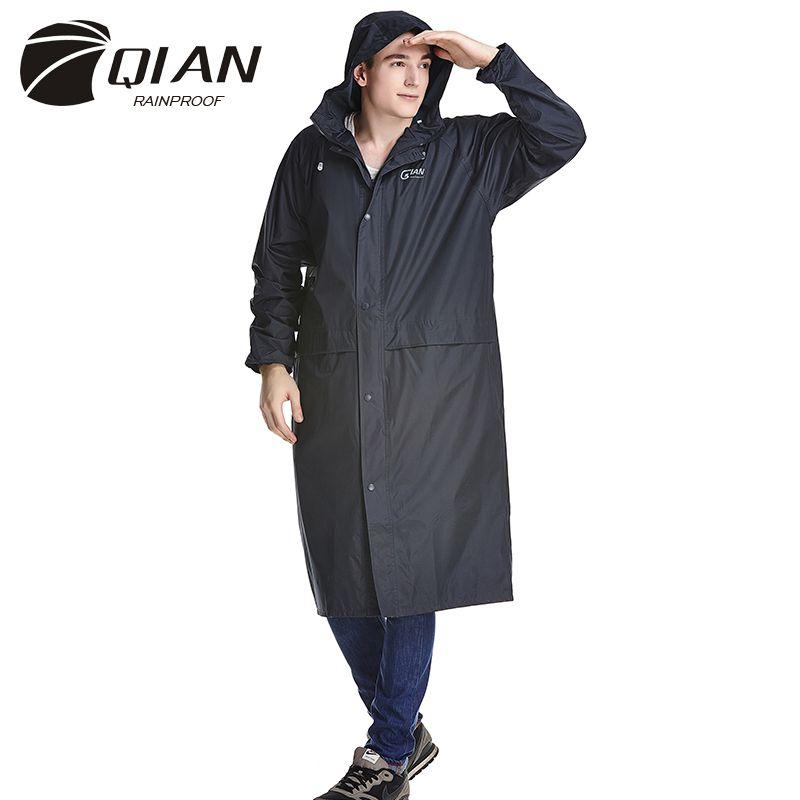 QIAN REGENDICHT Undurchlässig Lange Stil Regenmantel Erwachsene Wasserdicht Graben Mantel Poncho Regen Mantel Weibliche Regenbekleidung Regen Getriebe Poncho