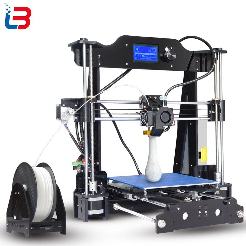2017 Upgrade Tronxy X8 model Newest 3D Printer 12864 LCD display aluminium MK3 heatbed MK8 direct extruder DIY full kits