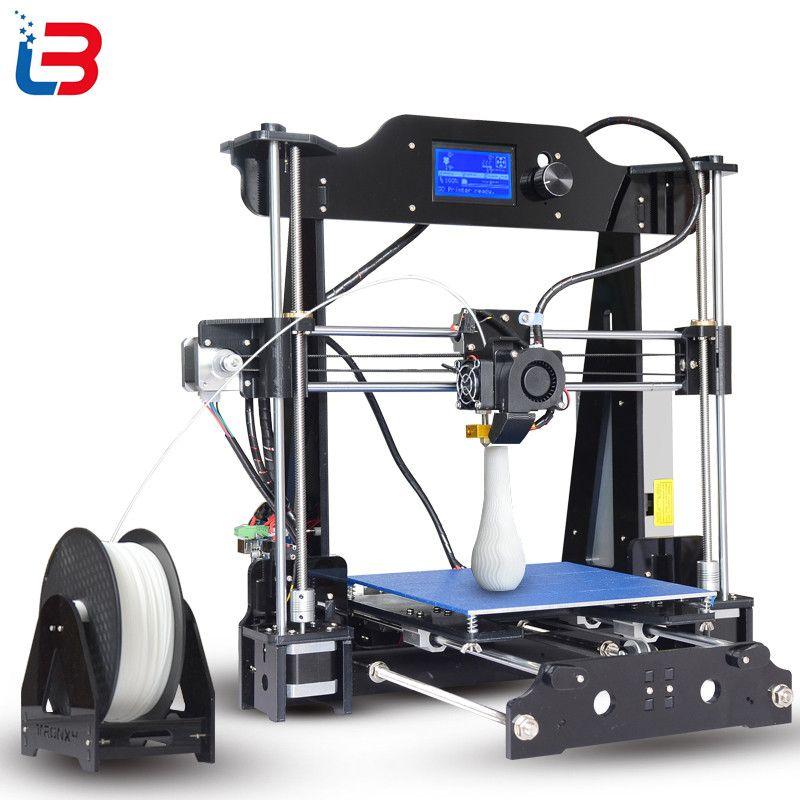 2017 Upgrade Tronxy X8 model Newest 3D Printer 12864 LCD display aluminium MK3 heatbed MK8 direct extruder DIY full kits
