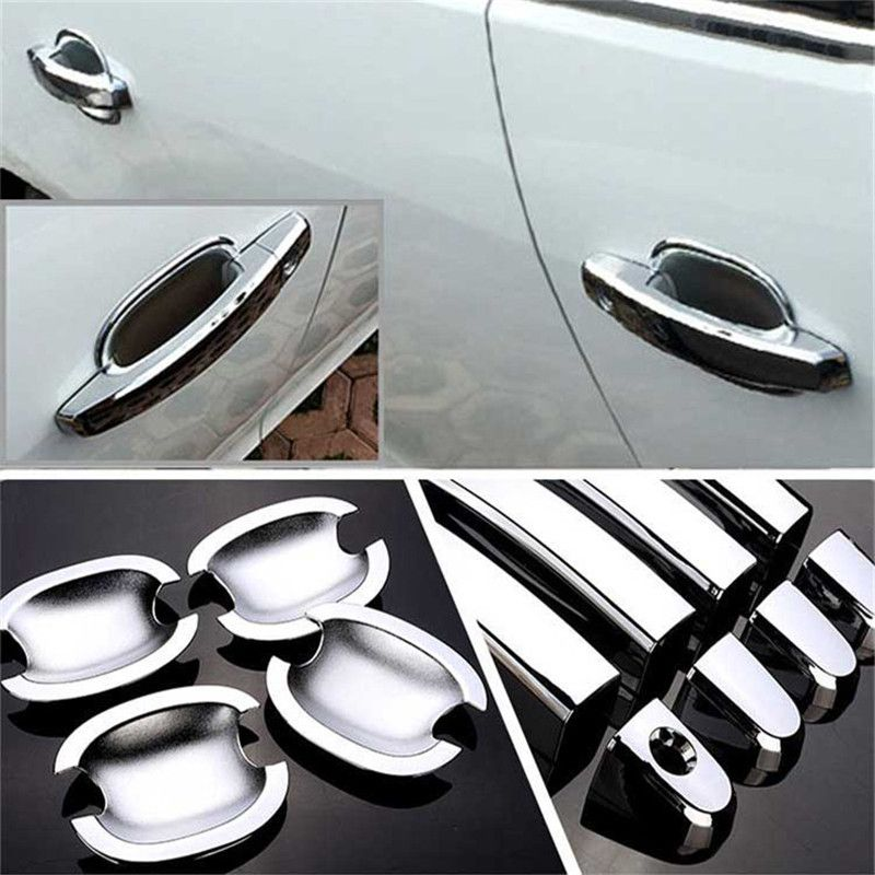 Non-Rusty Chrome Door Handle Bowl Cover Cup Overlay Trim For Chevy Malibu