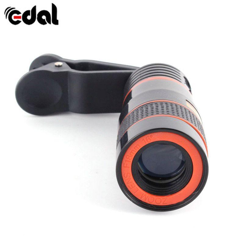 EDAL Téléphone Clip 12X Zoom Téléphone Télescope Lentille Externe Smartphone Camera Lens pour Universal Téléphones