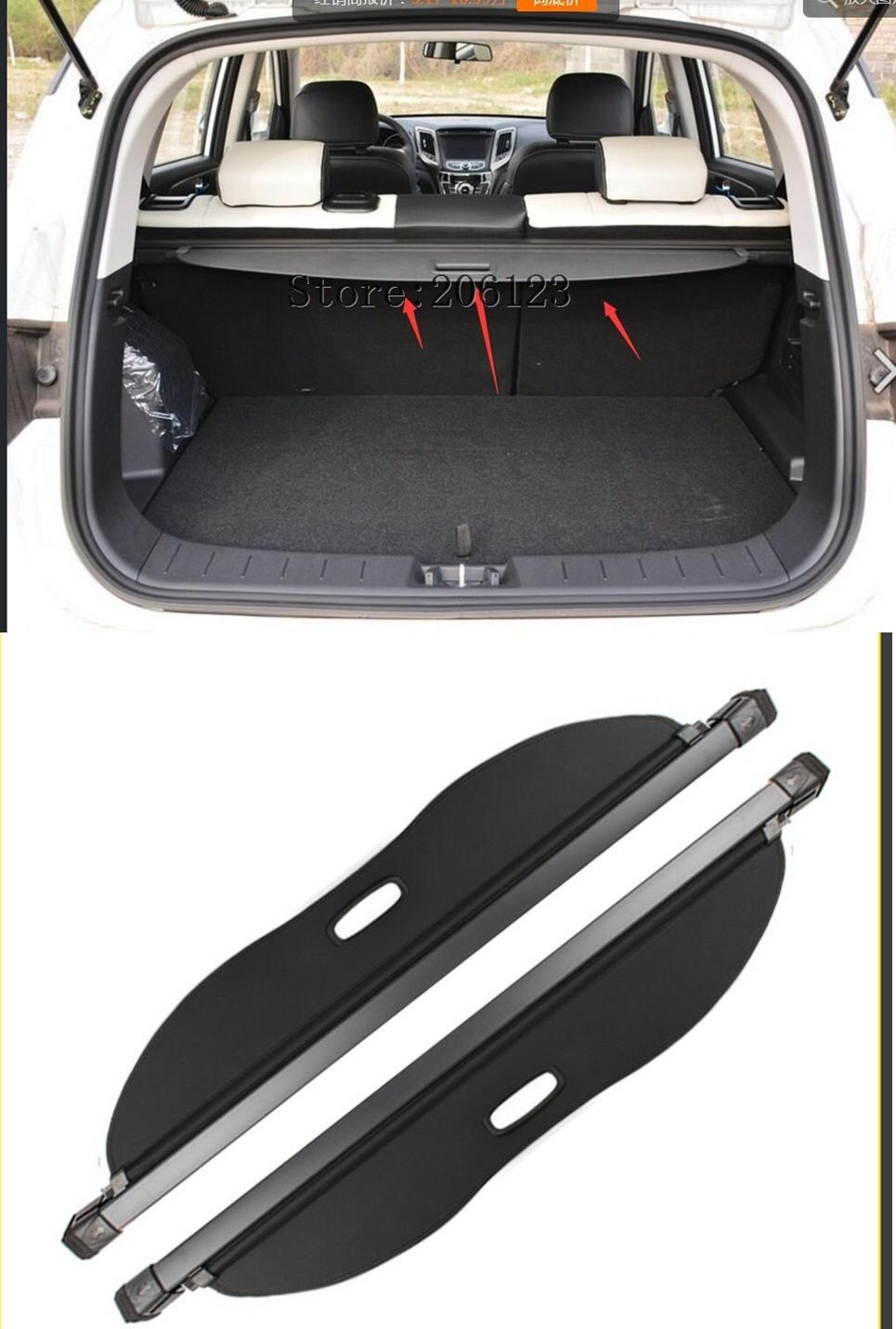 Black Rear Trunk Security Shield Cargo Cover Shade For For CHANGAN CS35 2015 2016 2017 2018