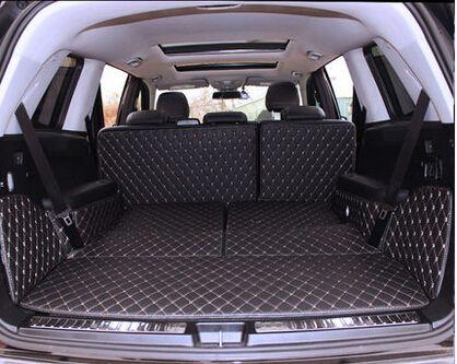Gute qualität! Spezielle stamm matten für Mercedes Benz GLS 350d 7 sitze 2019-2016 langlebige cargo-liner boot teppiche für GLS350d 2018