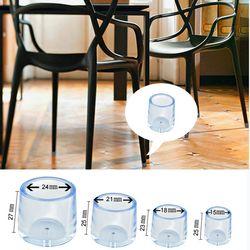4 шт. прозрачные резиновые колпачок для мебели стул для столовой ног Пол коврики крышка протектор