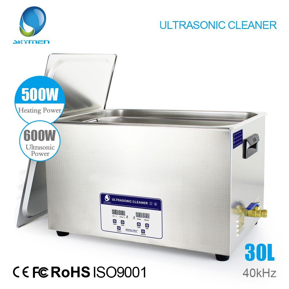 SKYMEN Digital Ultrasonic Cleaner Bath 30L 600W 40kHz Heater for Laboratory Medical Hardware parts Circuit board Golf Clubs