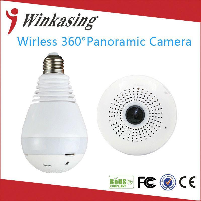 1080 P Sans Fil IP Caméra Ampoule Lumière FishEye Maison Intelligente CCTV 3D 360 degrés VR Caméra 2MP WiFi de Sécurité À Domicile Caméra panoramique