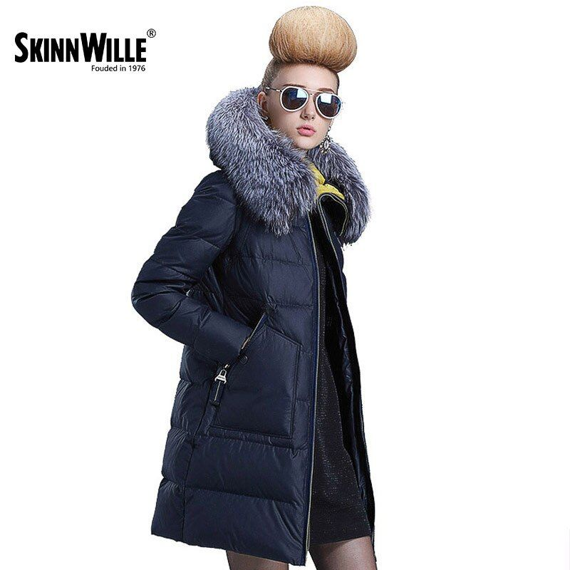 Skinnwille 2017 женщин с капюшоном теплое пальто ultra light вниз зимний пуховик женщин короткие зимние пальто женщин вниз куртка женщин