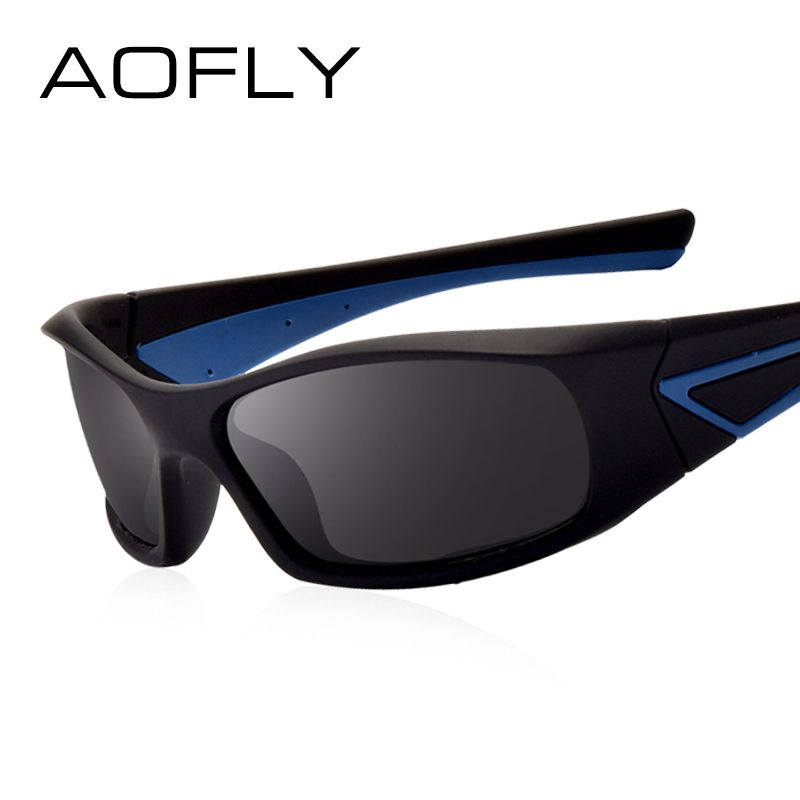 AOFLY Polarizadas Gafas de sol Hombre Anteojos Antideslumbrantes Conducir Masculino Lente de medio marco HD Gafas de Lujo marca diseñador AF8039